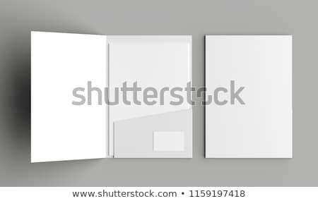 Foto stock: Carpetas · colorido · papel · 3d · ilustración · ordenador