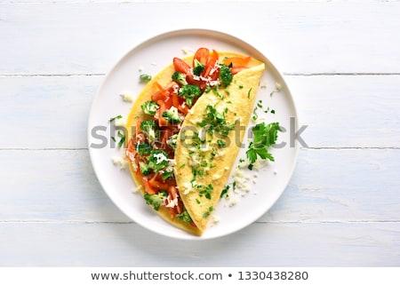 Omelette on the plate Stock photo © bluering