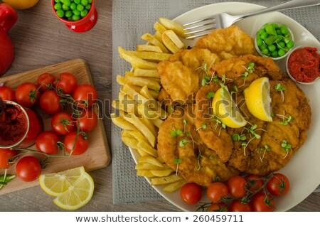 sültkrumpli · villa · forró · szürke · eszik · gyors - stock fotó © peteer
