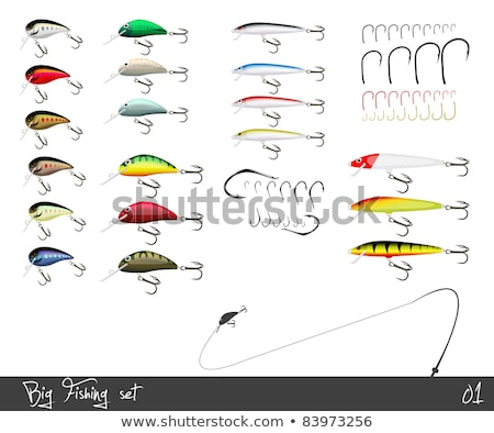Fishing set with hooks and string Stock photo © bluering