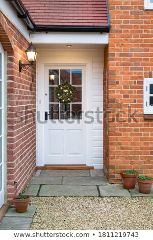 inglês · casas · vermelho · tijolo · parede - foto stock © fazon1