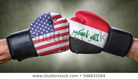 A boxing match between the USA and Iraq Stock photo © Zerbor