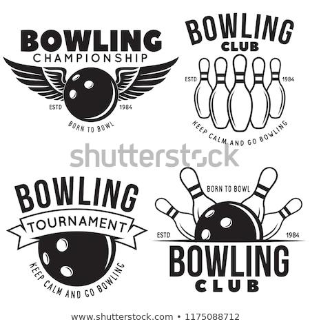 Bowling dizayn 10 spor arka plan top Stok fotoğraf © sdCrea