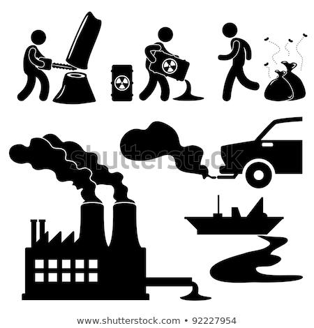 Ilegal poluição ambiental proteção grupo tóxico Foto stock © Lightsource
