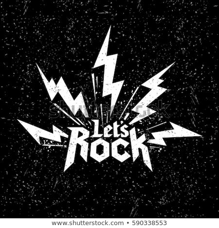 рок · катиться · музыку · плакат · два · гигант - Сток-фото © andrei_