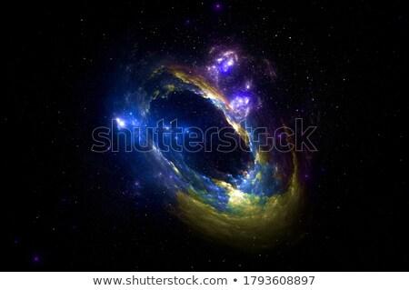 вихревой черный звезды силуэта шаблон Сток-фото © blackmoon979