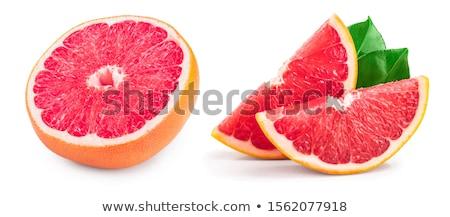ピンク グレープフルーツ 青 皿 孤立した ストックフォト © fotogal