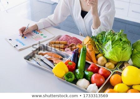 диетврач девушки овощей иллюстрация врач ухода Сток-фото © adrenalina
