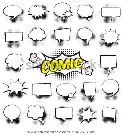 groot · tekstballon · kleurrijk · klein · bubbels · witte - stockfoto © orson