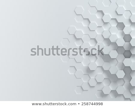 blue background with hexagonal shapes in 3d style Stock photo © SArts
