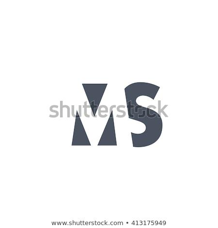 3d ms logo design stock photo © sdcrea