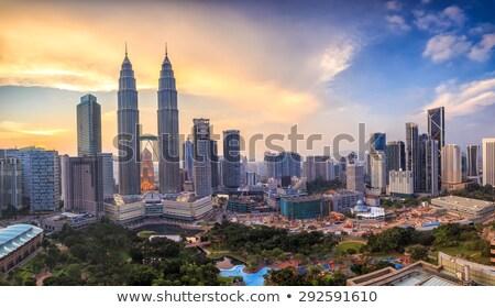 Felső kilátás Kuala Lumpur Malajzia légi sziluett Stock fotó © joyr