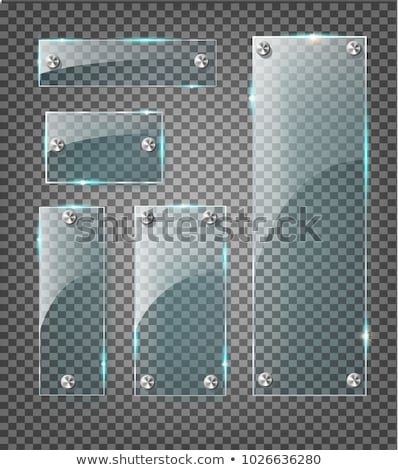 transparent glass plate mock up stock photo © pakete