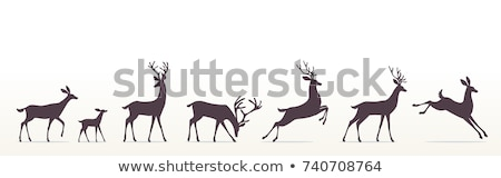 reindeer family cartoon Stock photo © adrenalina
