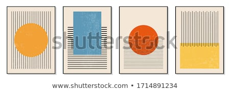 modern vector certificate template with geometric shapes stock photo © sarts
