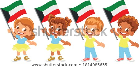 bandiera · Kuwait · texture · arte · segno · verde - foto d'archivio © bluering