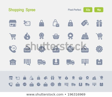 shopping spree   granite icons stock photo © micromaniac