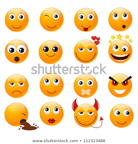 Emoji - kiss orange smile. Isolated vector. Stock photo © RAStudio