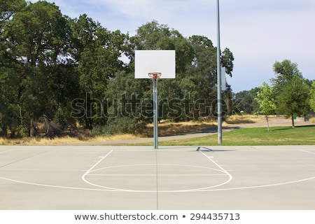 Basketball hoop on amateur outdoor basketball court Stock photo © stevanovicigor