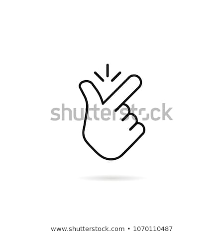 Flick fingers isolated. Hand snapped fingers on white background Stock photo © popaukropa