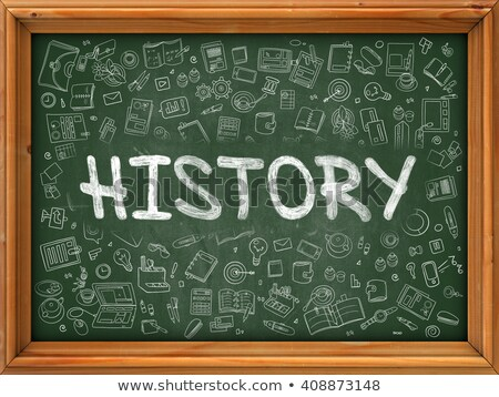 Learn History - Hand Drawn on Green Chalkboard. Stock photo © tashatuvango