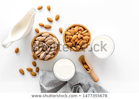 Mandula fehér izolált illusztráció eszik szakács Stock fotó © ConceptCafe