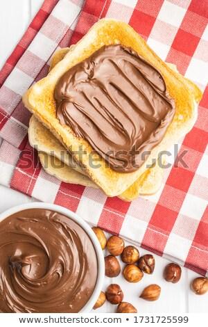 Avelã manteiga tigela branco chocolate Foto stock © Digifoodstock