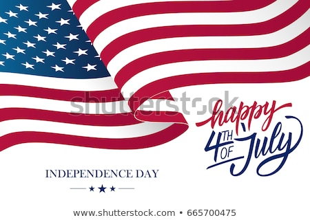 Happy 4th of July day. Handwritten text for greeting card Stock photo © orensila