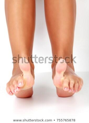 Közelkép lövés női láb nagy lábujjak Stock fotó © Nobilior