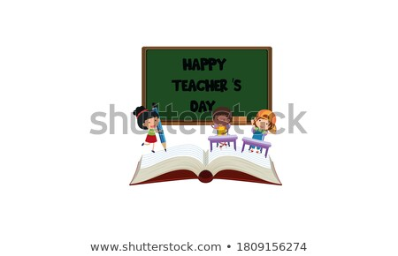 b2b · zwarte · schoolbord · 3D - stockfoto © tashatuvango