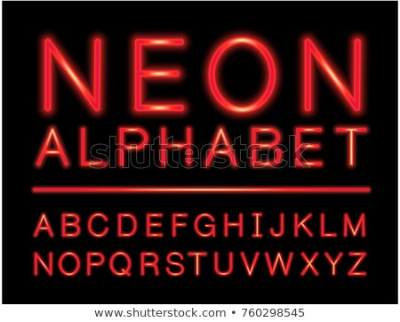 Red neon alphabet with complete letters set with LED effect Stock photo © liliwhite