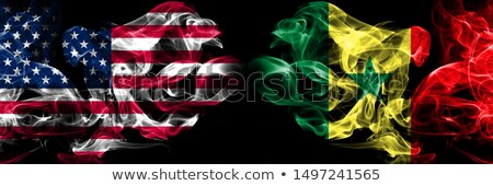 Football in flames with flag of senegal Stock photo © MikhailMishchenko