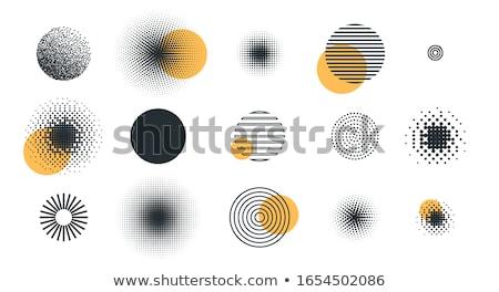 Mínimo medios tonos circular diseno resumen patrón Foto stock © SArts