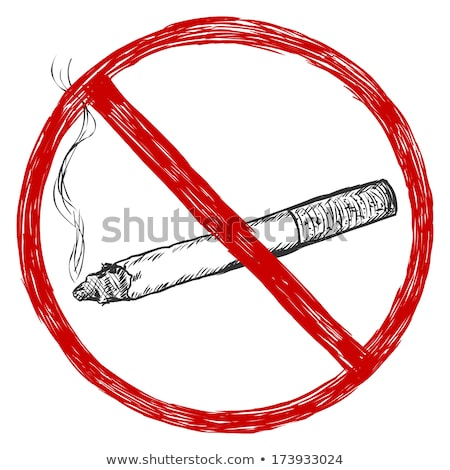 cigarro · bumbum · azul · fumar · fumador - foto stock © get4net
