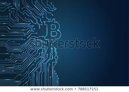 Bitcoin valuta fehér izolált üzlet pénz Stock fotó © OleksandrO