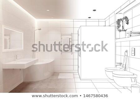 Wc szoba bútor fürdőszoba belső vonal Stock fotó © Terriana