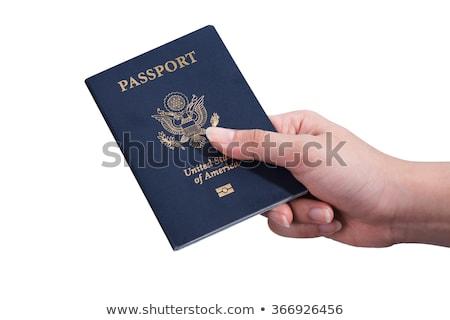 erkek · el · pasaport · yatılı - stok fotoğraf © margolana