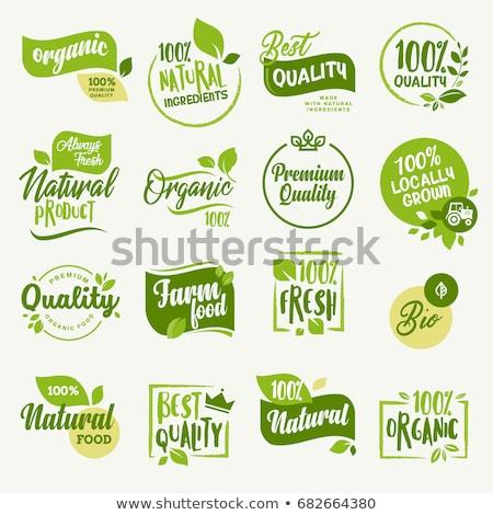 Naturale etichetta verde shop segni qualità Foto d'archivio © adamson