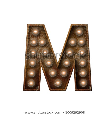Letra m 3D broadway estilo alto qualidade Foto stock © creisinger