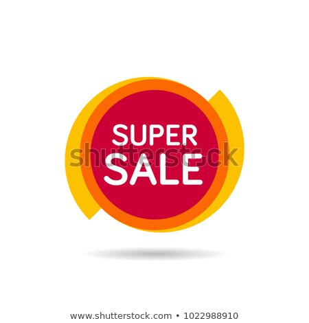 Super sale isolated vector sticker stock photo © studioworkstock