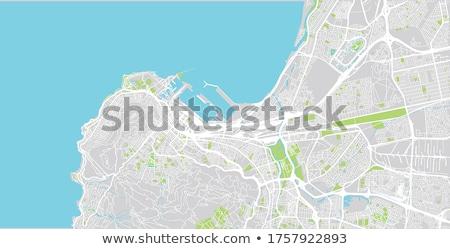 Cidade · do · Cabo · ver · cabeça · sinalizar · colina · topo - foto stock © is2