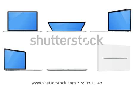 mavi · kapak · defter · beyaz · iş · kâğıt - stok fotoğraf © daboost
