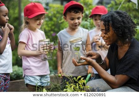 gyerekek · kirándulás · boldog · oktatás · fiatalság · női - stock fotó © bluering
