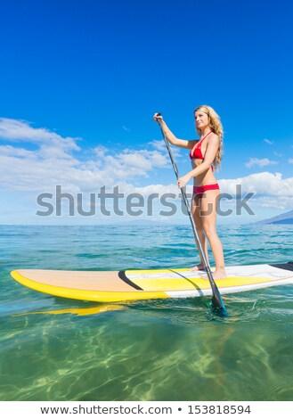 Kadın plaj güneş gözlüğü açık havada yatay Stok fotoğraf © IS2