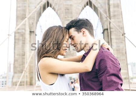 Couple Propose Interracial Stock photo © lenm