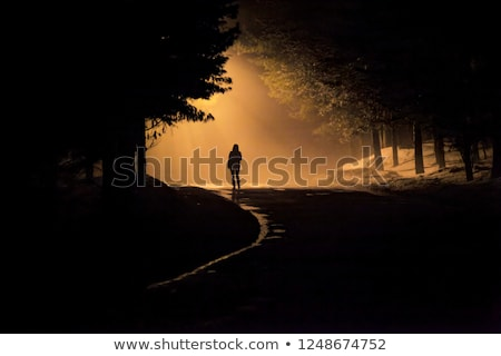 uomo · silhouette · vetro · luce · sfondo - foto d'archivio © Walmor_