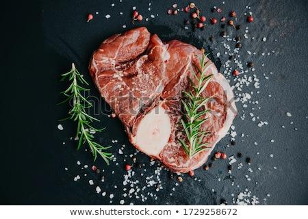 ızgara · domuz · eti · parçalar · baharatlar · biberiye · et - stok fotoğraf © melnyk