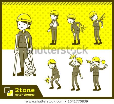 2tone type helmet construction worker woman_set 08 Stock photo © toyotoyo