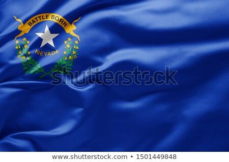 bayrak · Nevada · bilgisayar · oluşturulan · örnek · ipeksi - stok fotoğraf © mikhailmishchenko