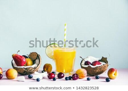 half · kokosnoot · illustratie · ontwerp · witte · computer - stockfoto © robuart